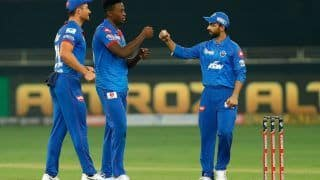 DC vs KXIP IPL 2020 Match Report: Kagiso Rabada, Marcus Stoinis Star as Delhi Capitals Edge Kings XI Punjab in Super Over Thriller