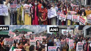 कंगना रनौत के समर्थन में शिमला में प्रदर्शन, महाराष्ट्र सरकार की बर्खास्तगी की मांग