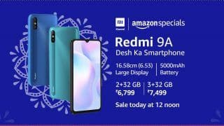 Redmi 9A SALE Today, September 9 on Amazon, Mi.com: Check Specifications, Price, Sale Details