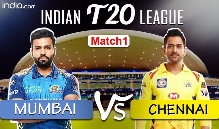 Chennai Super Kings (166/5) beat Mumbai Indians by 5 wickets in Abu Dhabi MATCH HIGHLIGHTS Dream11 IPL 2020 Match 1 LIVE CRICKET SCORE Mumbai Indians vs Chennai Super Kings, Abu Dhabi: Rayudu,