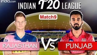 MATCH HIGHLIGHTS Rajasthan Royals vs Kings XI Punjab, IPL 2020 Match 9: Samson, Tewatia Fifties Power Royals to 4-wicket Win vs KXIP