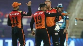 DC vs SRH IPL 2020 Match 11 Report: Jonny Bairstow, Rashid Khan Shine as Sunrisers Hyderabad Beat Delhi Capitals by 15 Runs to Register First Win of Season