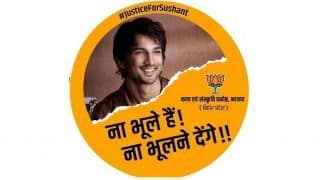 'Na Bhule Hain, Na Bhulne Denge': Ahead of Bihar Polls, BJP Releases 'Justice for Sushant' Posters; Opposition Sees Red