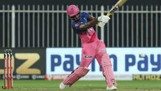 RR vx KXIP IPL 2020 Match Report: Sanju Samson, Rahul Tewatia Script Record Chase as Rajasthan Royals Beat Kings XI Punjab by 4 Wickets in Sharjah