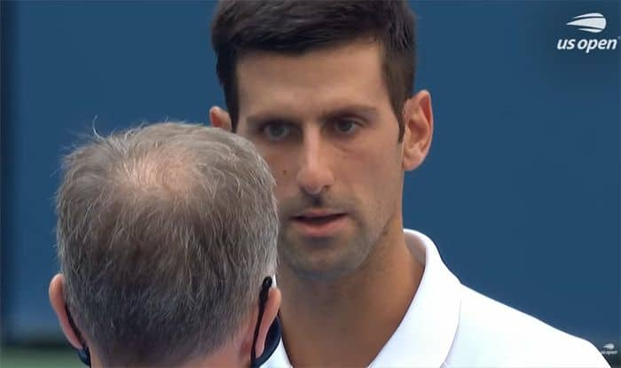 World No 1 Novak Djokovic Disqualified From Us Open 2020 After Hitting Line Official With A Ball Tennis News