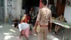 Caught on Camera: Constable Drags Differently-Abled Rickshaw Puller in UP's Kannauj; Suspended | Watch