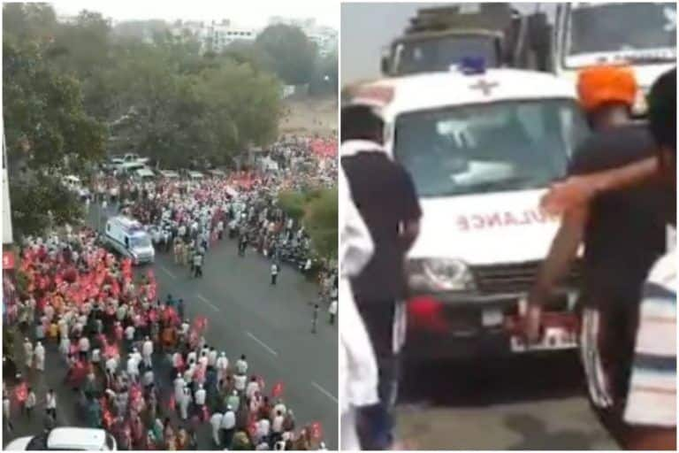 Bharat Band: Agitating Farmers Make Way For Ambulances, Ensure Peaceful Protest | Watch