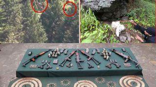 आर्मी ने पाकिस्तानी आतंकवादियों की बड़ी साजिश की नाकाम, हथियारों का जखीरा बरामद