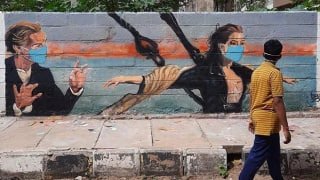 Artist Makes Paintings On Bengaluru Streets To Create COVID-19 Awareness, Check Them Out