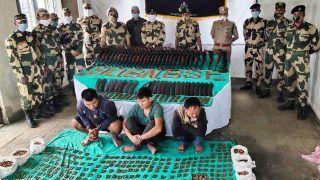 BSF ने देश विरोधी तत्वों के मंसूबे नाकाम किए, हथियारों की बड़ी खेप पकड़ी