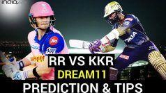 RR vs KKR Dream11 Team Prediction IPL 2020: राजस्थान के 'रॉयल्स' और कोलकाता के 'नाइटराडर्स' में होगी कांटे की टक्कर, जानें दोनों टीमों का प्लेइंग XI