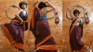 Woman in Saree & Sneakers Hula-Hoops to 'Genda Phool', Netizens Are Mighty Impressed | Watch