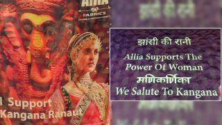 Kangana Ranaut's Manikarnika Portrait Saree Goes Viral - Surat Businessman Supports Actor in Shiv Sena Row