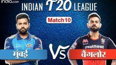 LIVE IPL SCORE, RCB vs MI: डीविलियर्स, फिंच, पडीक्कल के अर्धशतकों से मुंबई के सामने 202 रन की चुनौती
