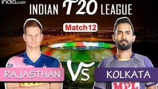 LIVE | Rajasthan Royals vs Kolkata Knight Riders IPL 2020