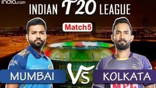 LIVE Kolkata Knight Riders vs Mumbai Indians Match 5 Live Cricket Score And Updates: Rohit Sharma's Mumbai Will Look to Bounce Back Against Kolkata at Abu Dhabi