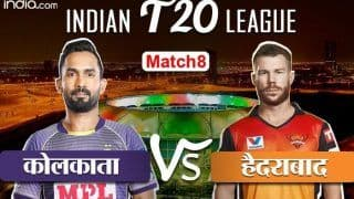 LIVE IPL SCORE, KKR vs SRH: आज वार्नर-कार्तिक की टीमें होंगी आमने-सामने, शाम 7 बजे होगा टॉस
