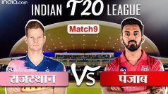 LIVE IPL SCORE, RR vs KXIP: संजू सैमसन के छक्के से राजस्थान ने पूरे किए 50 रन