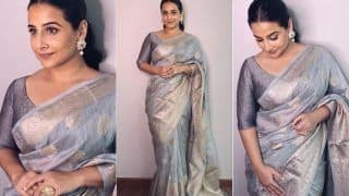 Vidya Balan's Timeless Ash Grey Silk Saree is a Must-Have, See The Trending Pictures Here