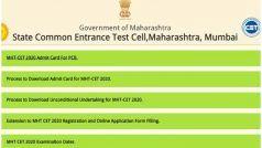 MHT CET Admit Card 2020 Released: महाराष्ट्र सीईटी का एडमिट कार्ड हुआ जारी, ये रहा डाउनलोड करने का Direct Link