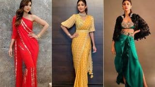 10 Pictures That Prove Shilpa Shetty Kundra Has The Most Experimental Indian Ensembles in Her Wardrobe