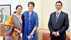 दिल्ली: प्रियंका गांधी से मिले डॉ. कफील खान, पत्नी व बच्चे भी रहे साथ