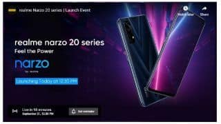 Realme Narzo 20, Narzo 20A, Narzo 20 Pro to Launch in India Today at 12:30 pm: Check Price