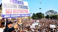 फ्रांस के राष्ट्रपति के खिलाफ भोपाल में मुस्लिमों का प्रदर्शन, कांग्रेस विधायक समेत कई पर केस दर्ज