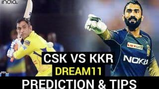 CSK vs KKR Dream11 Team Prediction Dream11 IPL 2020: Captain, Vice-captain, Fantasy Playing Tips, Probable XIs For Today's Chennai Super Kings vs Kolkata Knight Riders T20 Match 49 at Dubai International Cricket Stadium 7.30 PM IST October 29 Thursday