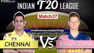 LIVE | IPL 2020, Match 37: Struggling Chennai, Rajasthan Eye Win to Keep Playoff Hopes Alive