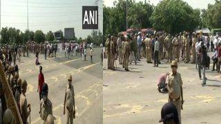Hathras Live:  राहुल को हाथरस जानें से रोकने की तैयारी, DND में भारी संख्या में पुलिस फोर्स तैनात