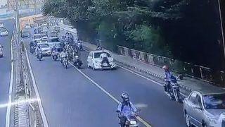 Watch: Traffic Cop Dragged on Car's Bonnet in Delhi's Dhaula Kuan