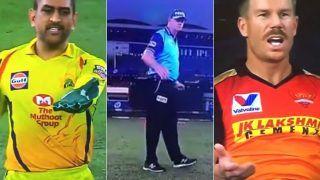 IPL 2020: David Warner Reacts on 'MS Dhoni vs Paul Rieffel' Wide Drama