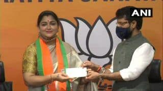 Kushboo Sundar Joins BJP Hours After Quitting Congress, Likely to Get a Seat in Tamil Nadu Assembly Polls