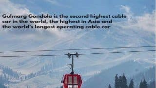 Famous Gulmarg Gondola Opens For Tourists After Season's First Snowfall in The Hill Station