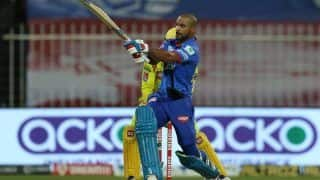 IPL 2020 Updated Points Table After DC vs CSK, Match 33, Sharjah: Delhi go on Top; Shikhar Dhawan Zooms to No 4 in Orange Cap Race, While Kagiso Rabada Retains Purple Cap