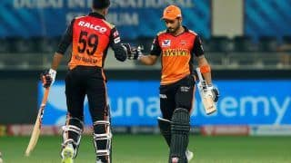 IPL 2020 Updated Points Table After RR vs SRH, Match 40, Dubai: Hyderabad Pips Rajasthan to No 5; KL Rahul, Kagiso Rabada reatin Orange, Purple Cap Respectively