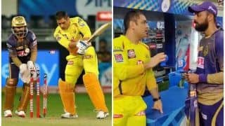 WATCH | Dhoni Giving Tips to Varun Chakravarthy is a Runaway Hit on Social Space
