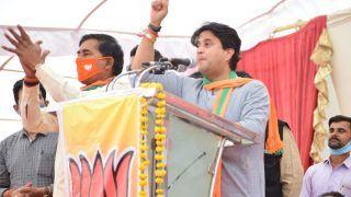 जब ज्योतिरादित्य सिंधिया ने की कांग्रेस को जिताने की अपील, मुंह ताकने लगे बीजेपी नेता, वीडियो वायरल
