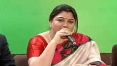 Manusmriti Remarks Row: BJP's Khushbu Sundar Detained on Way to Protest Against VCK's Thirumavalavan