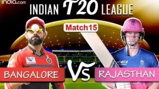 RCB vs RR Live Score, Dream11 IPL 2020, Match 15 Updates: Bangalore Take on Rajasthan in Season's First Afternoon Game