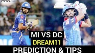 MI vs DC Dream11 Team Prediction Dream11 IPL 2020: Captain, Vice-captain, Fantasy Playing Tips, Probable XIs For Today's Mumbai Indians vs Delhi Capitals T20 Match 27 at Sheikh Zayed Stadium, Abu Dhabi 7.30 PM IST Sunday October 11