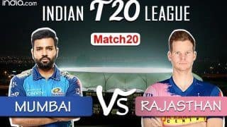 LIVE | IPL 2020, Match 20: Defending Champs Mumbai Aim to Continue Winning Momentum vs Shaky Rajasthan