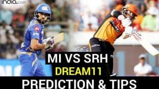 MI vs SRH Dream11 Team Prediction Dream11 IPL 2020: Captain, Vice-captain, Fantasy Playing Tips, Probable XIs For Today's Mumbai Indians vs Sunrisers Hyderabad T20 Match 17 at Sharjah Cricket Stadium, Sharjah 3.30 PM IST Sunday October 4