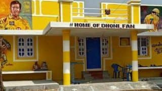 IPL 2020 News: MS Dhoni Fan Paints His House Yellow to Pay Tribute to CSK Captain, Names His Residence 'Home Of Dhoni Fan' | SEE PICS