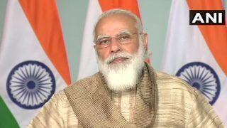 PM Modi Flaunts Traditional Bengali Attire Curated by Union Minister Babul Supriyo For Inauguration of Durga Puja Festivities