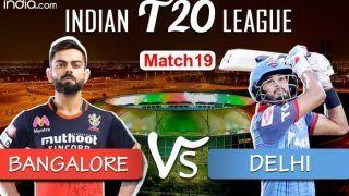 LIVE | IPL 2020, Match 19: Battle of Equals as Virat Kohli's RCB Take on Delhi Capitals