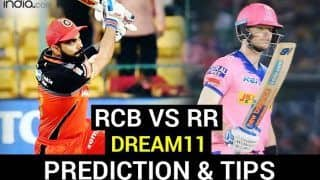 RCB vs RR Dream11 Team Prediction Dream11 IPL 2020: Captain, Vice-captain, Fantasy Playing Tips, Probable XIs For Today's Royal Challengers Bangalore vs Rajasthan Royals T20 Match 15 at Sheikh Zayed Stadium, Abu Dhabi 3.30 PM IST Saturday October 3