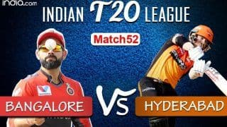 LIVE | IPL 2020, Match 52: Bangalore Eye Win Over Confident Hyderabad to Secure Playoff Berth