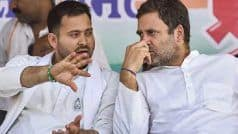 Don't Lie to Biharis, Rahul Attacks PM Modi; Tejashwi Promises 10 Lakh Govt Jobs in First Cabinet Meet | LIVE